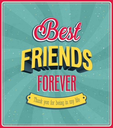 Best friends forever typographic design  Vector illustration  Vector