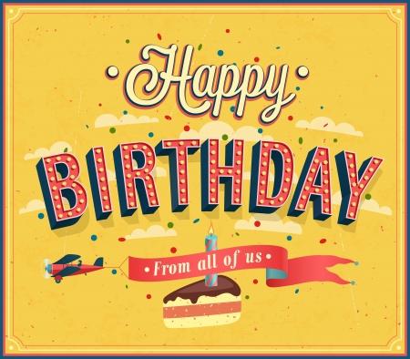 Alles Gute zum Geburtstag typografische Gestaltung. Vektor-Illustration. Standard-Bild - 24044875