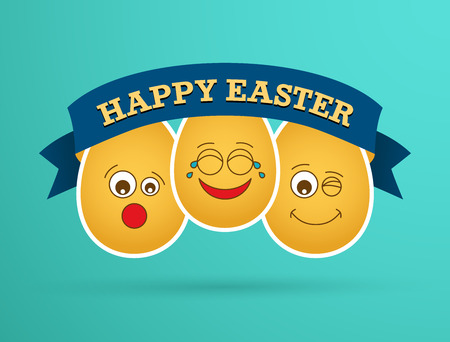 Funny Easter egg friends. Vector illustration. Vector
