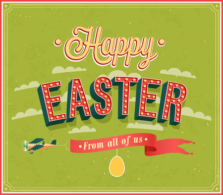 Happy Easter typographic design. Vector illustration. Vector