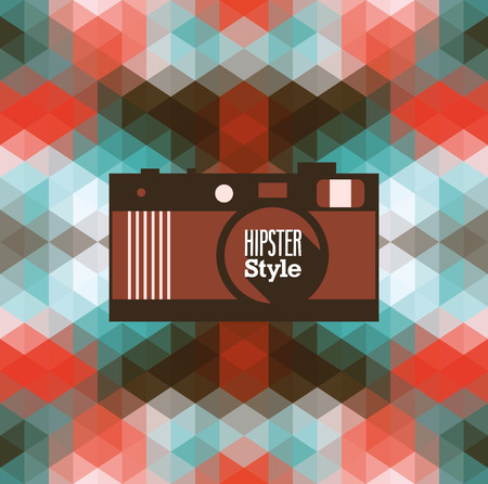 Hipster background. Vector illustration. Vector