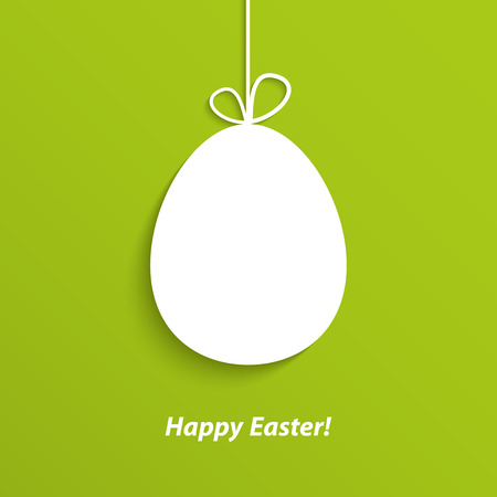 Easter card with hanging egg. Vector illustration. Vector