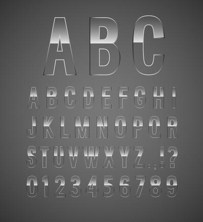 Glass font. Vector illustration. Vector