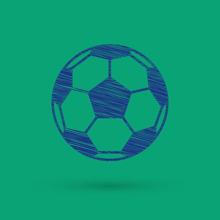 school sports: Football icon. Vector illustration.