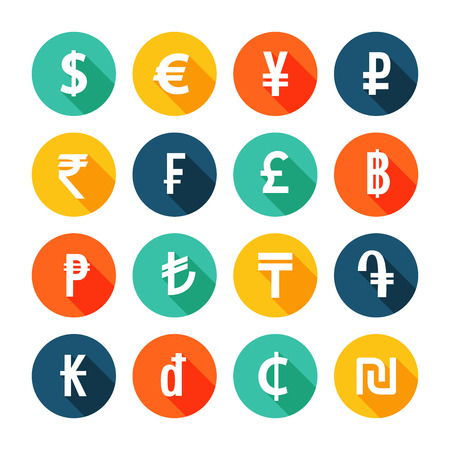 forex: Money icons set. Vector illustration.