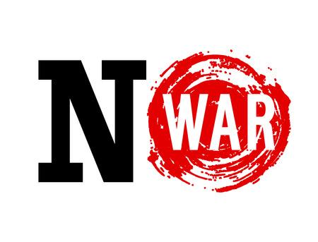 anti war: No War banner. Vector illustration. Illustration
