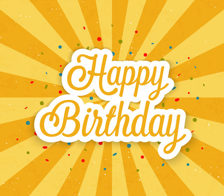 Happy Birthday greeting card. Vector illustration. Иллюстрация