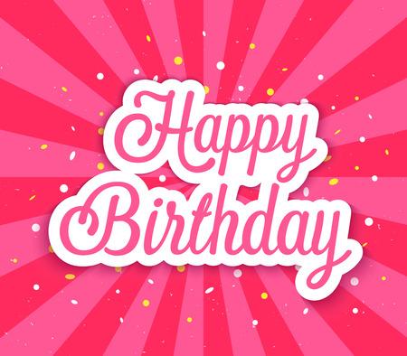 felicitaciones: Feliz cumpleaños. Ilustración del vector. Vectores