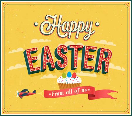 Happy Easter typographic design. Vector illustration. Vector