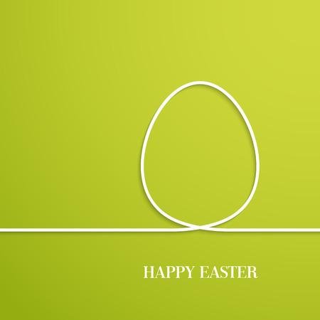 Tarjeta de Pascua feliz con el huevo de papel. Ilustración del vector. Ilustración de vector