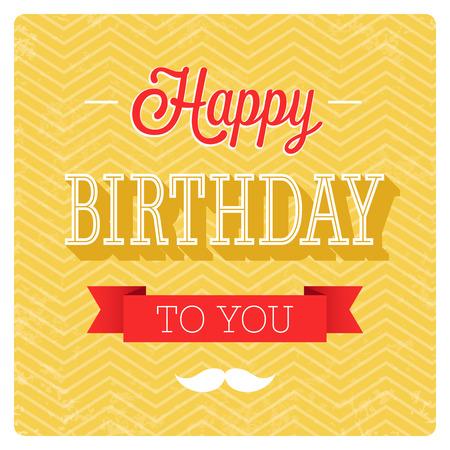 congratulations: Feliz cumpleaños diseño tipográfico. Ilustración del vector.
