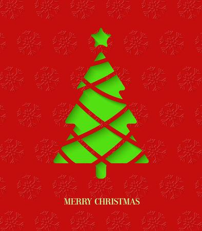 cut paper: Paper cut Christmas tree.