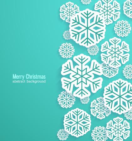 vacanza: Sfondo Natale con i fiocchi di neve di carta. Illustrazione vettoriale. Vettoriali