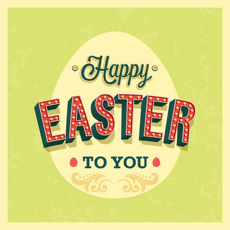 typographic: Happy Easter typographic design.