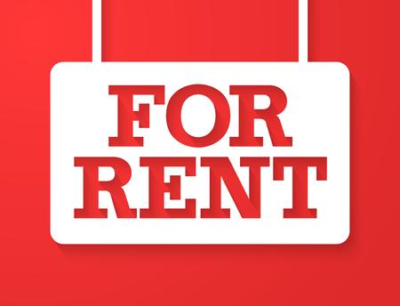 rent: For Rent . illustration.