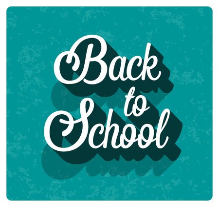 scholar: Back to school typographic design. illustration.