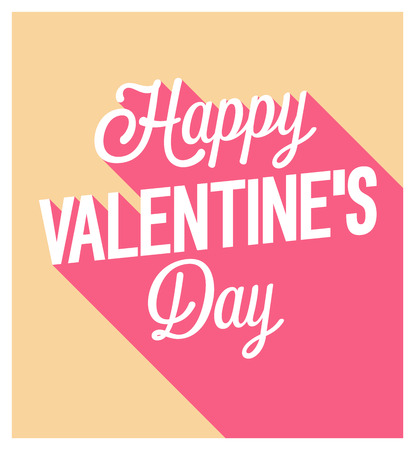 Happy Valentines Day greeting card. Vector illustration. Illustration