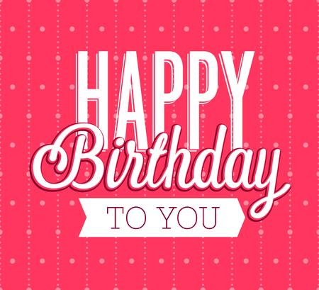 Happy Birthday greeting card. Vector illustration. Stock Vector - 83339338