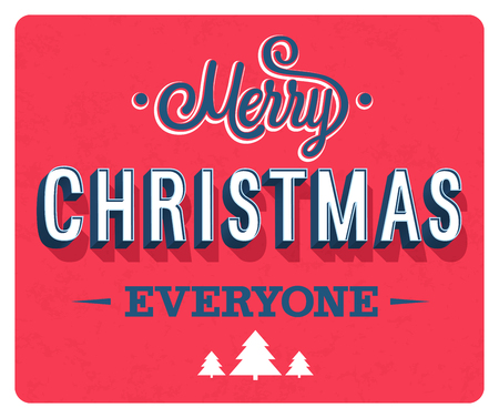 Feliz Navidad tarjeta de felicitación. Ilustración vectorial
