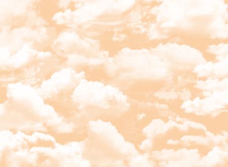 orange sky background with clouds Imagens