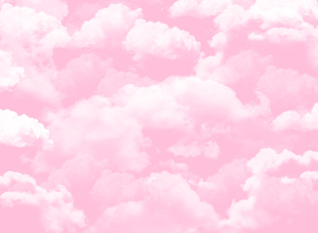 pink sky background with clouds Banco de Imagens