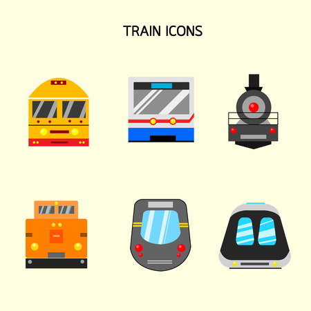 Train face icons