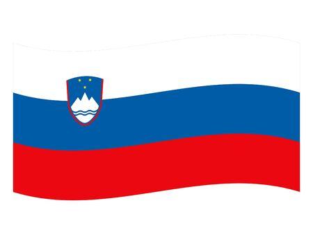vector illustration of Wave Flag of Slovenia