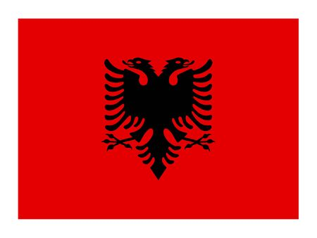 vector illustration of Flag of Albania