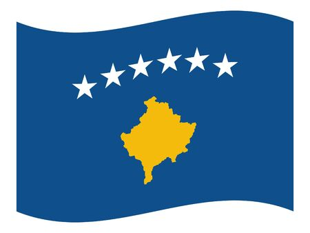 vector illustration of Wave Flag of Kosovo