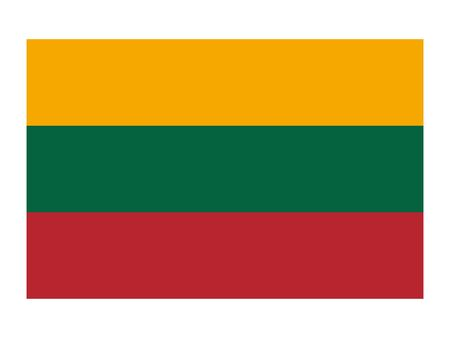 vector illustration of Flag of Lithuania