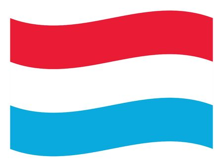 vector illustration of Wave Flag of Luxembourg