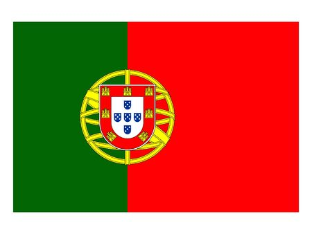 vector illustration of Flag of Portugal