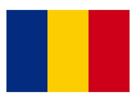 vector illustration of Flag of Romania