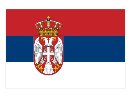 vector illustration of Flag of Serbia