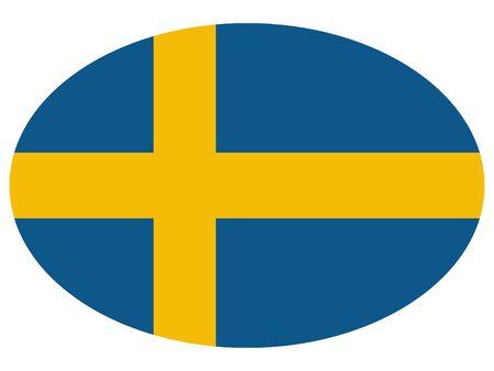 vector illustration of Ellipse Flag of Sweden