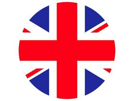 vector illustration of Circle Flag of United Kingdom Vetores
