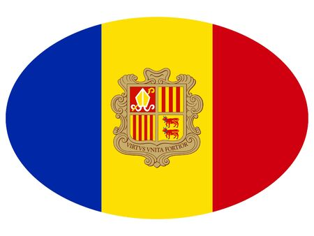 vector illustration of Ellipse Flag of Andorra