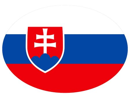 vector illustration of Ellipse Flag of Slovakia 向量圖像