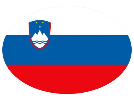 vector illustration of Ellipse Flag of Slovenia