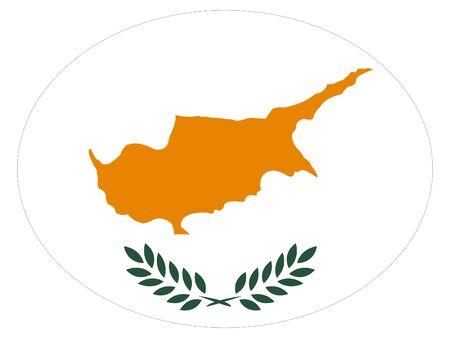 vector illustration of Ellipse Flag of Cyprus