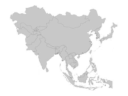 vector illustration of Map of Maldives with national flag on Asia map