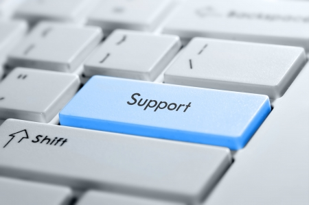 teclado: Apoyo bot�n en el teclado Foto de archivo