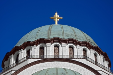 Dome and golden cross photo