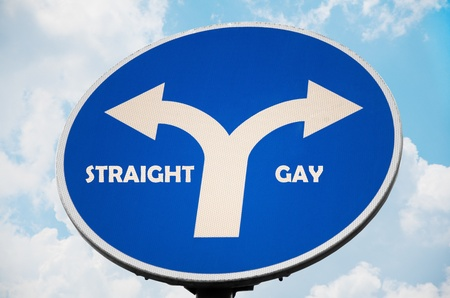 Straight and Gay sign Stock Photo - 10981321