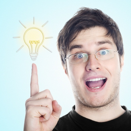 Guy with an idea Stock Photo - 12428067