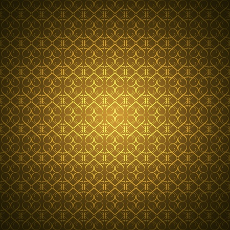 Golden wallpaper with heart-shaped ornaments