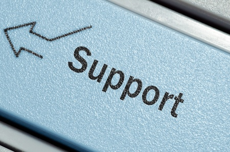 Support keyboard button Stock Photo