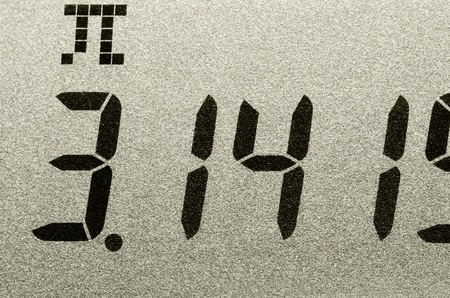 pi: Macro shot of Pi number Stock Photo