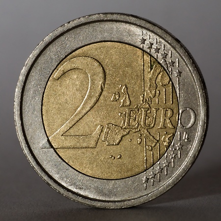 Two euro coin  Low key