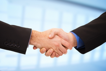 shake hand: Two businessmen shaking hands